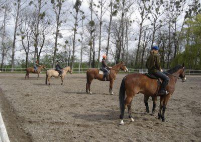 Sekcja jazdy konnej w latach 2006-2008.
